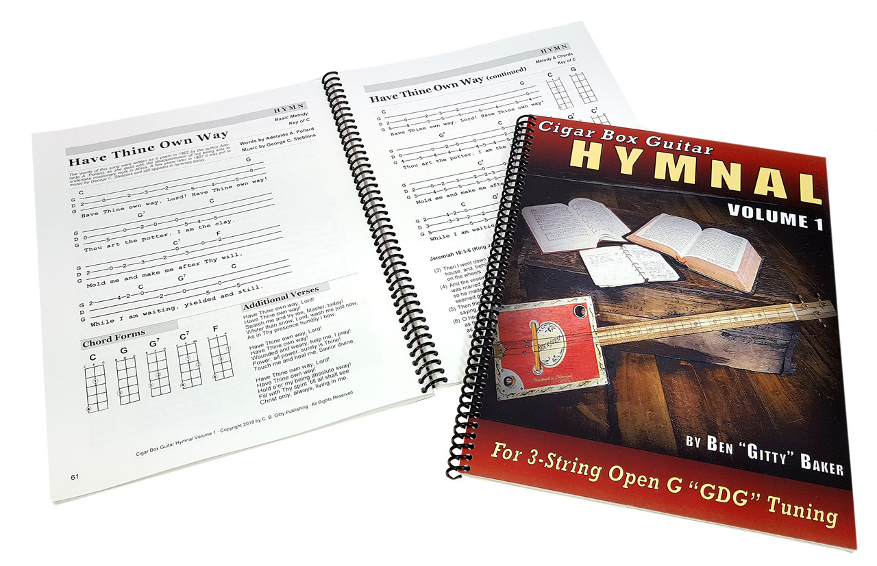 Cigar Box Guitar Hymnal Vol 1 57 Classic Christian Hymns With