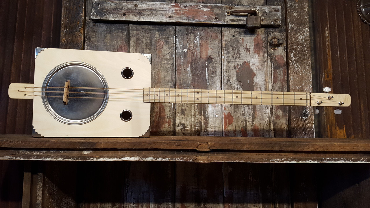Tin Pan Alley 3 String Paint Can Resonator Guitar Kit C B Gitty Wiring On Cone Bass Woofers Wired In Series Parallel