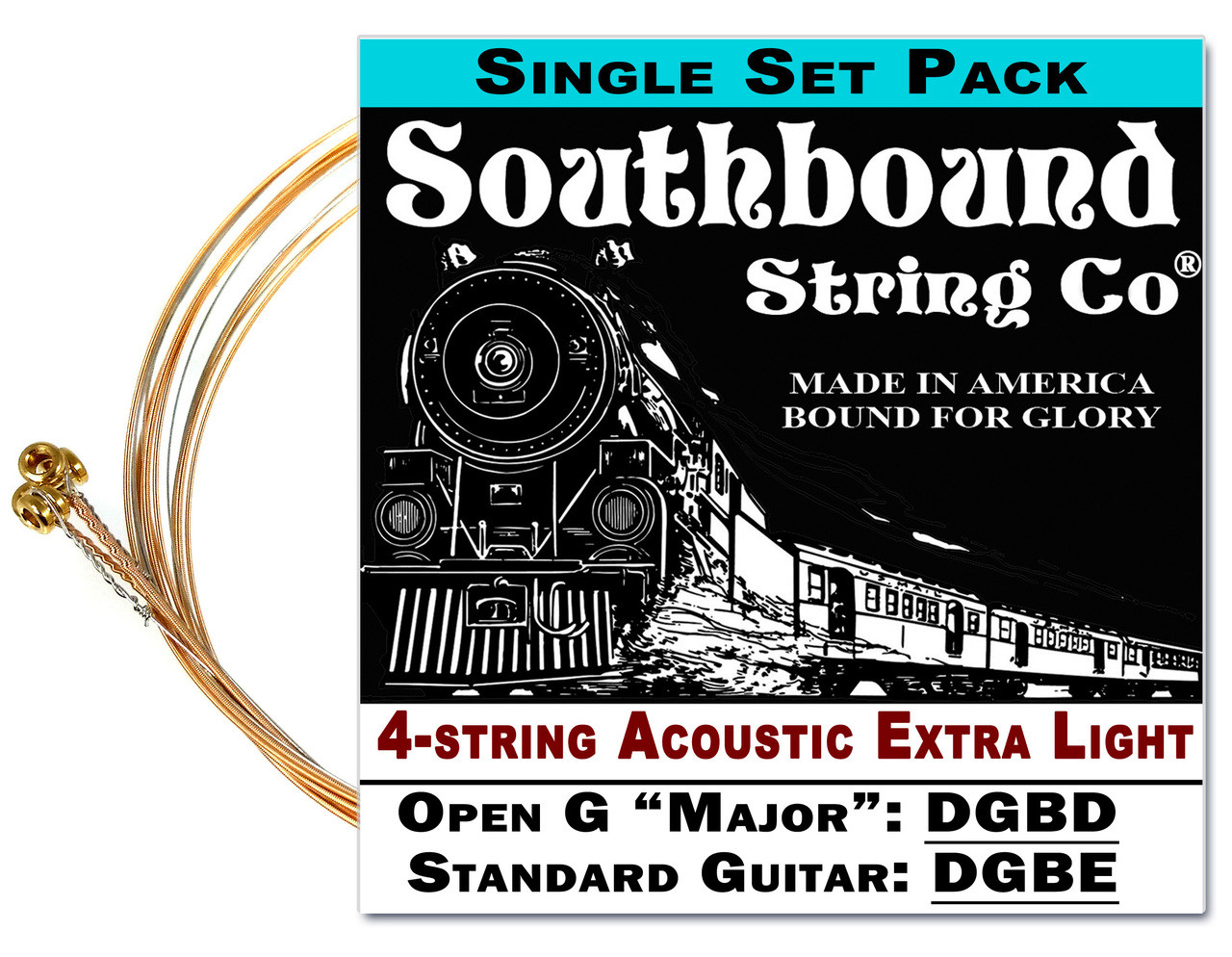 acoustic extra light 4 string cigar box guitar strings open g open d standard tuning dbgd df. Black Bedroom Furniture Sets. Home Design Ideas