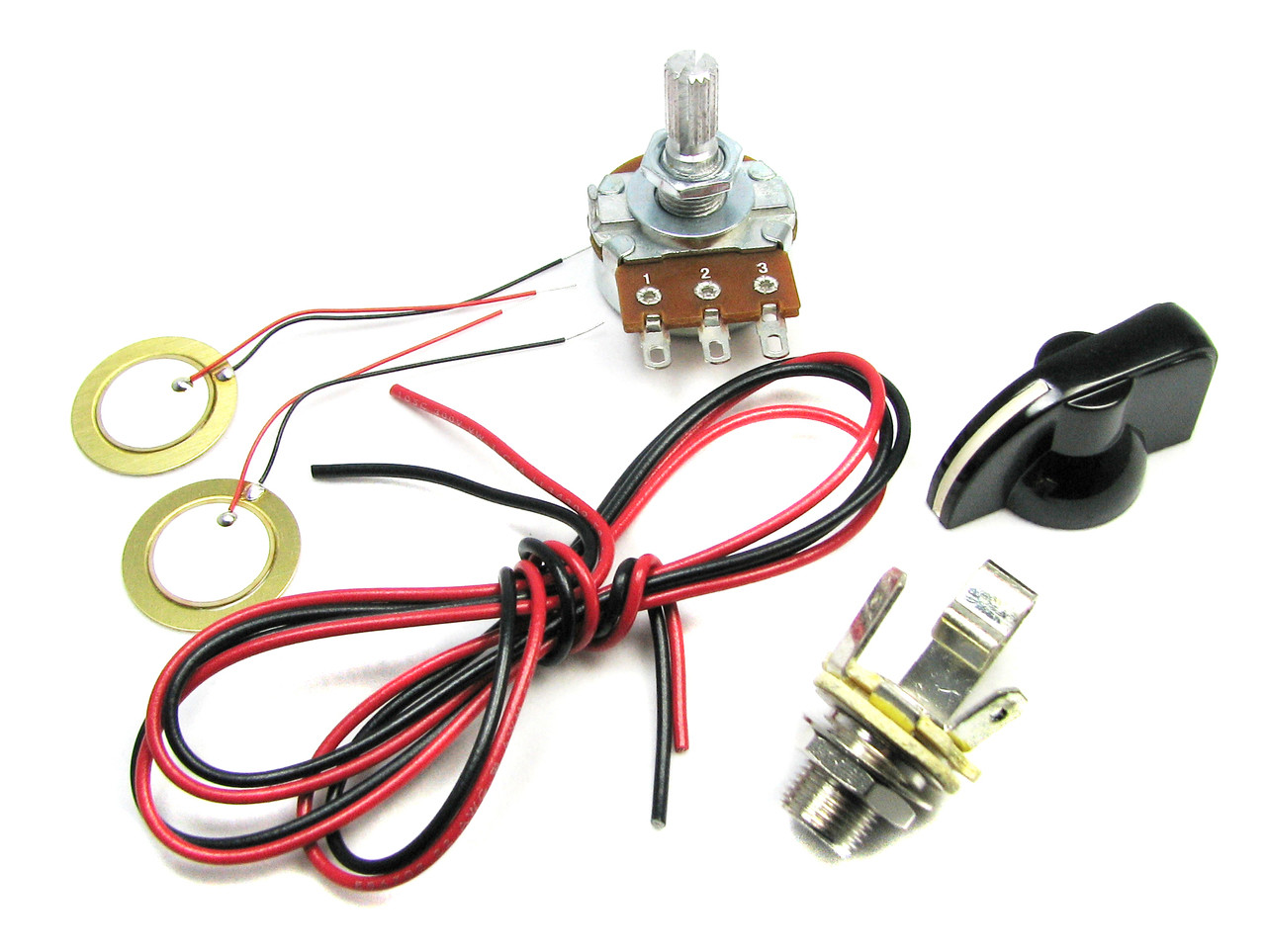 Basic Piezo Pickup Kit For Cigar Box Guitar Instructions Included Wiring Diagram Two Humbuckers And