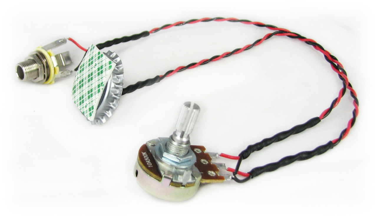 C B Gittys Cap O Tone Standard Piezo Pickup Harness For Cigar Box Wiring