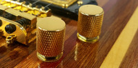 2-pack Gold Flat-Top Press-Fit Knobs