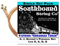 "A. J. Gaither's ""Arkansas Tenor"" String Set for 4-string Cigar Box Guitars - Low E, A, D, G"