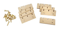 8pc. Wooden Retainer Nuts for 3-string Cigar Box Guitars