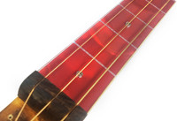 """Red Swirl Cigar Box Guitar (1.5"""") Acrylic Fretboard Underlay"""