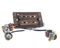"""DeltaBucker Deluxe"" 4-string Rosewood Cigar Box Guitar Humbucker Pickup pre-wired with Volume and Tone - No Soldering!"