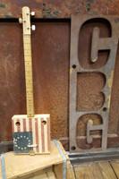 Custom Inked 3-string Cigar Box Guitar - Upload Your Own Design