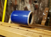 """Jaybird Blue"" Ceramic Guitar Slide - 1 3/4"" Length - handcrafted by Janis Wilson Hughes"