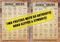 2pc. Hobo Signs Poster Set - Designed & Printed in the USA!