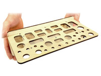 Wall-mount Bench Tool Organizer Kit - No gluing or clamping required