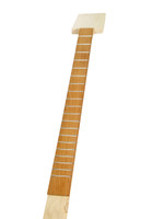 Premium Fretted Cigar Box Guitar Neck - Hard Maple & Mahogany