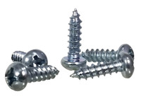 "100pc. #6 x 1/2"" Zinc-plated Phillips Round-Head Screws"