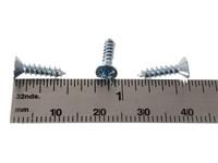 """100pc. #6 x 1/2"""" Zinc-plated Phillips Flat-Head Screws"""