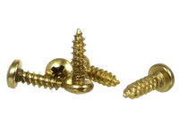 "#4 x 3/8"" Brass Phillips Round Head Screws"
