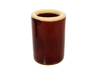 "Brick Red Ceramic Guitar Slide - 1 3/4"" Length - handcrafted by Janis Wilson Hughes"