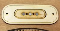 """2pc. """"Electric Delta"""" Pickup Rings - Style 2 - fits both the 3 and 4-string models!"""