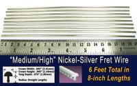 Medium/High Nickel-Silver Fret Wire (6 ft)