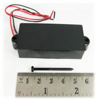 Black Enclosed 4-Pole Single-Coil Pickup