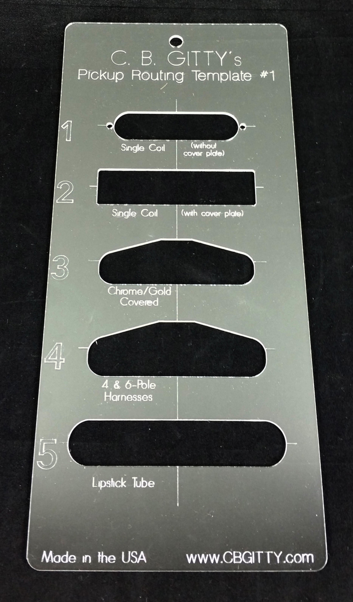 2pc. Electric Guitar Pickup Routing Template Set - includes 10 total ...