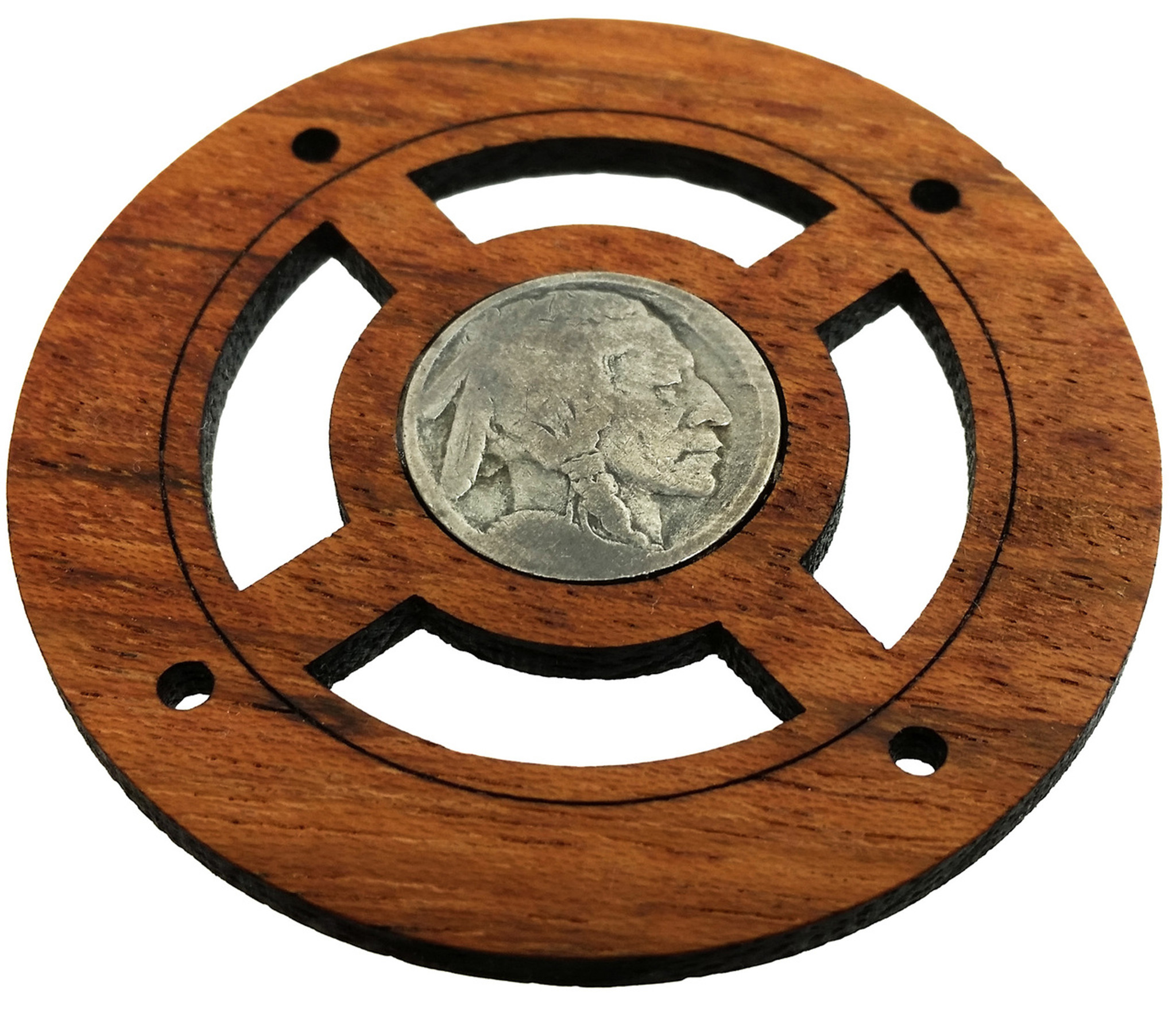 buffalo nickel front side vintage coin sound hole cover for cigar box guitars c b gitty. Black Bedroom Furniture Sets. Home Design Ideas