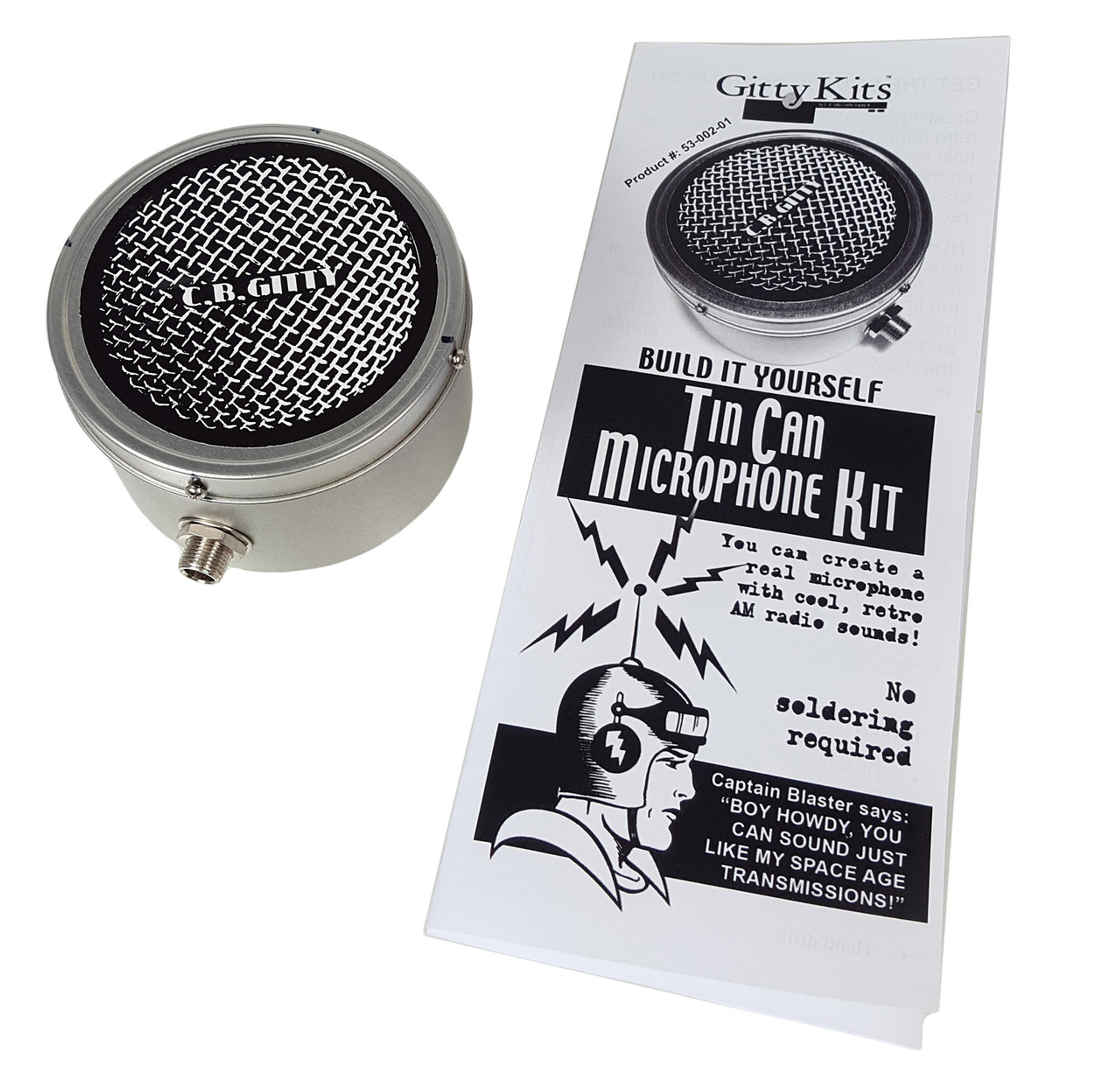 Tin can microphone kit build your own old time mic c b gitty tin can microphone kit build your own old time mic solutioingenieria Image collections