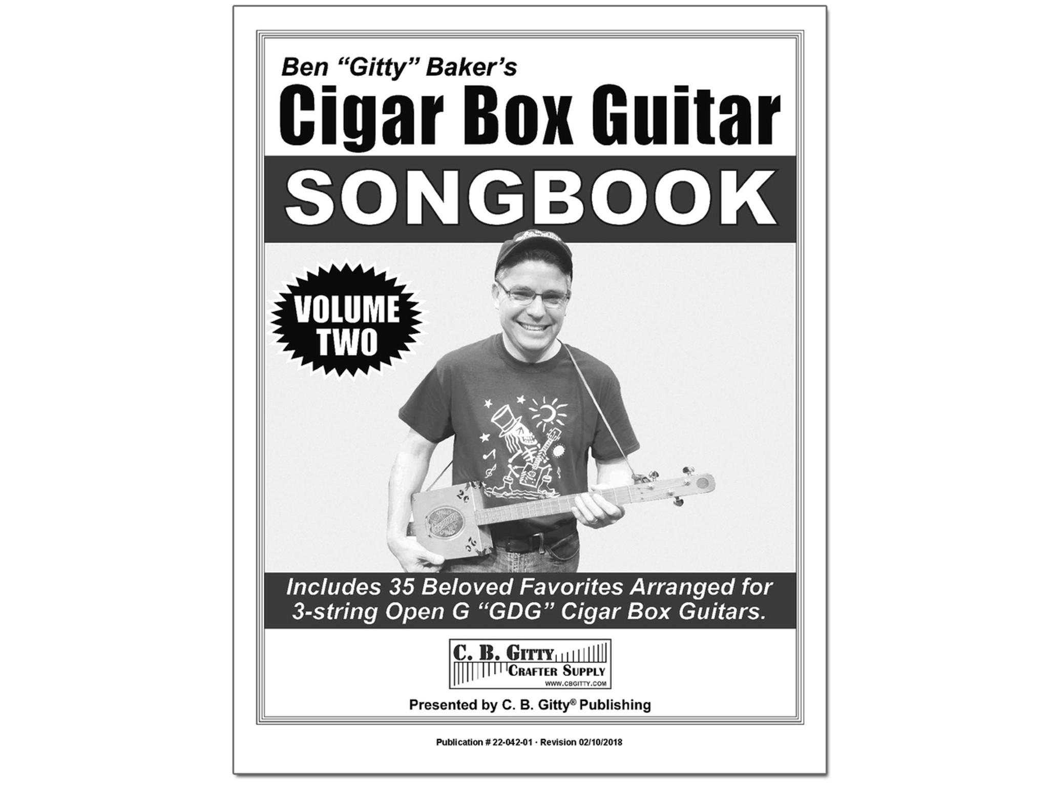 Ben Gittys 3 String Cigar Box Guitar Songbook Volume 2 35 More
