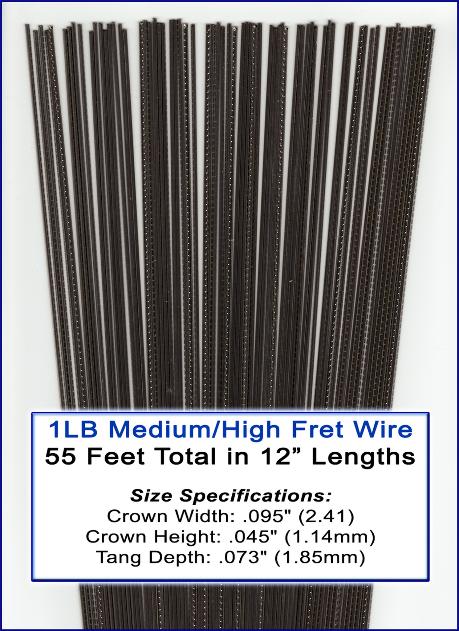 1lb bulk fret wire medium high nickel silver c b gitty crafter supply. Black Bedroom Furniture Sets. Home Design Ideas