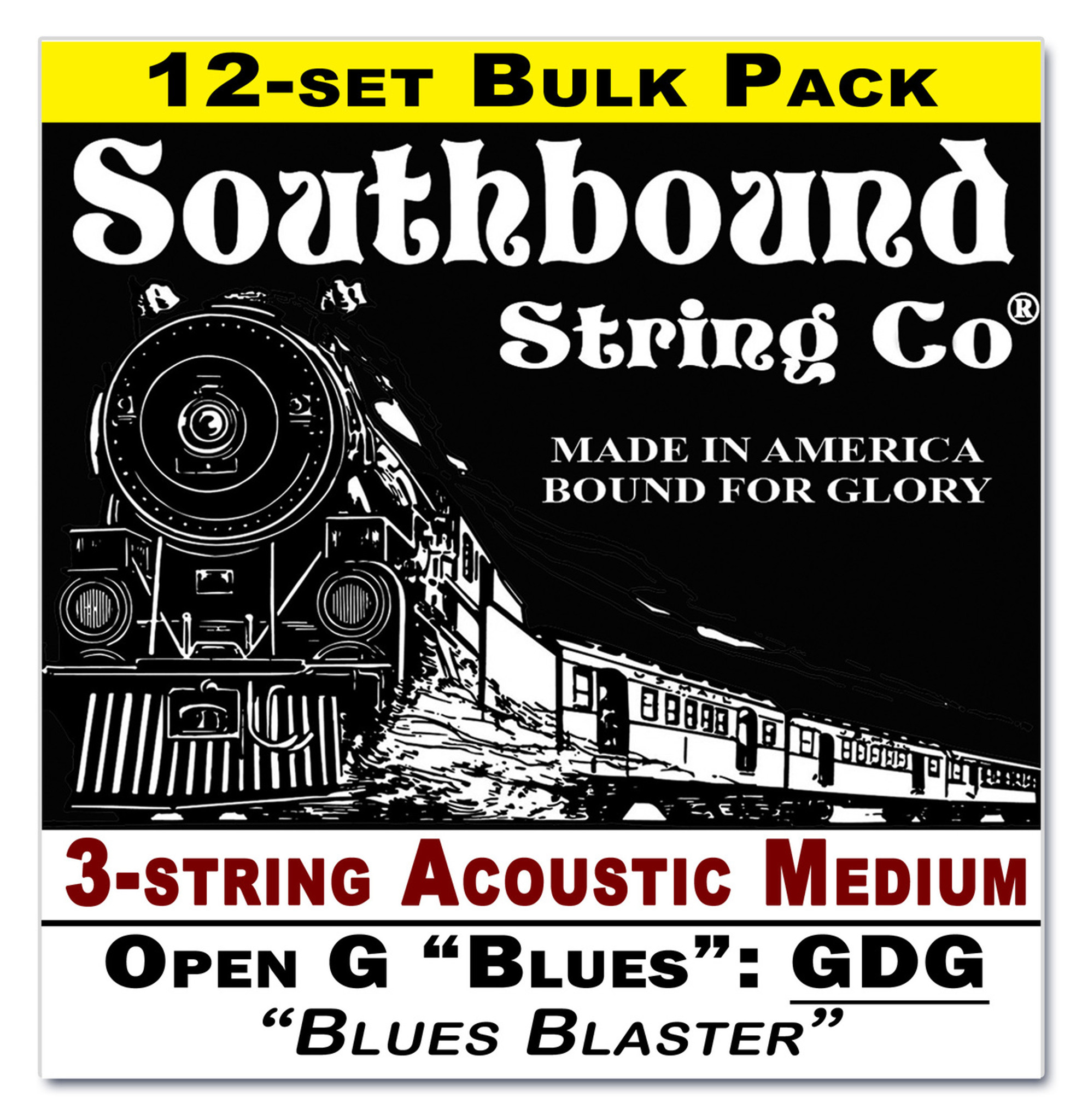 12 pack 3 string cbg strings low open g blues gdg tuning acoustic medium c b gitty. Black Bedroom Furniture Sets. Home Design Ideas