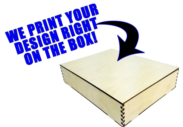 "Custom-Printed 8.5"" x 11"" Acoustic Wooden Box Kit - You Supply the Artwork"