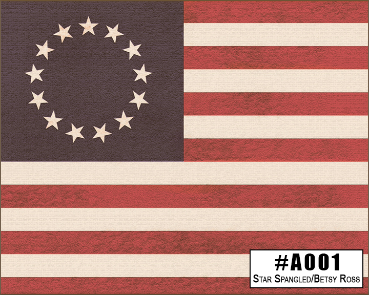 A001 Star Spangled / Betsy Ross Box Design