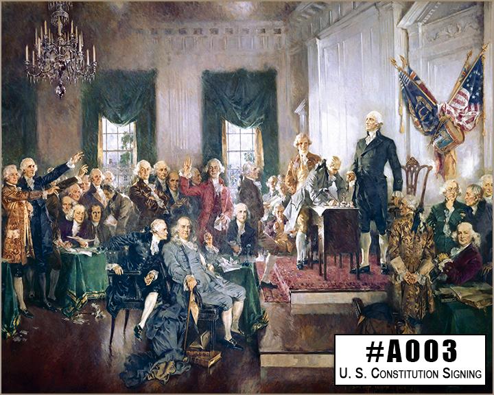 A003 U. S. Constitution Signing Box Design