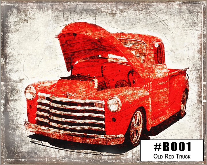 B001 Old Red Truck Box Design