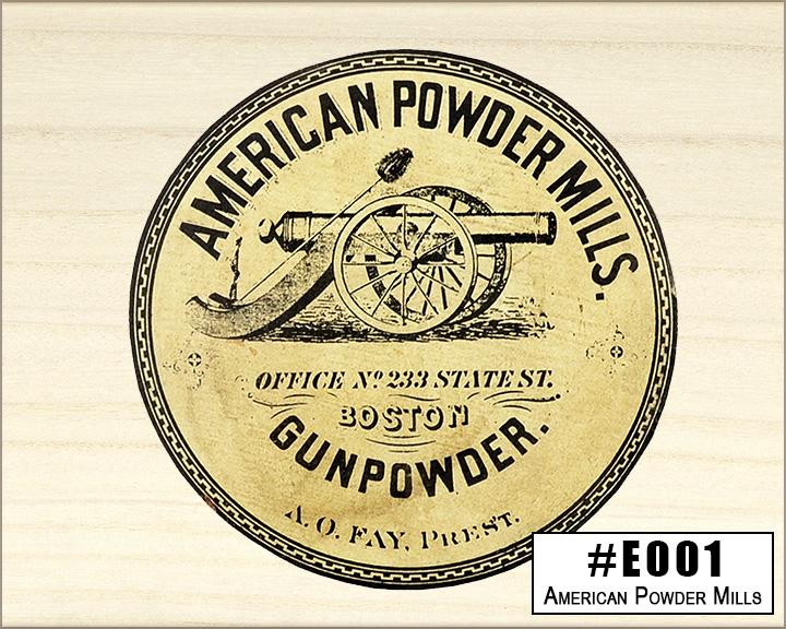 American Powder Mills Box Design