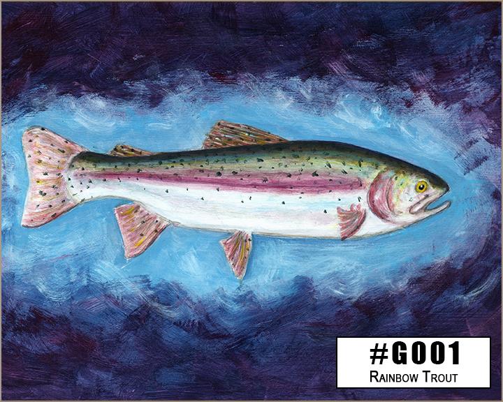 G001 Rainbow Trout by Dan Caldwell Box Design