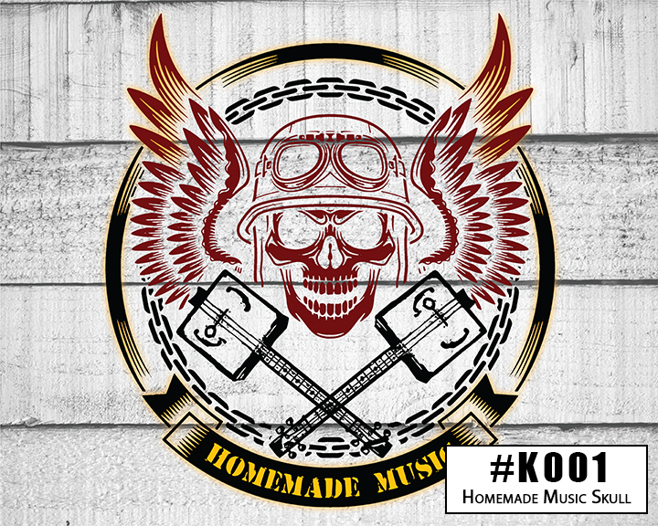 K001 Homemade Music Biker Skull