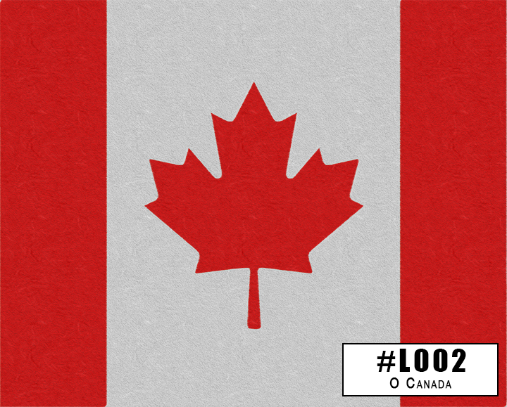 L002 Oh Canada (Weathered Canadian Flag)
