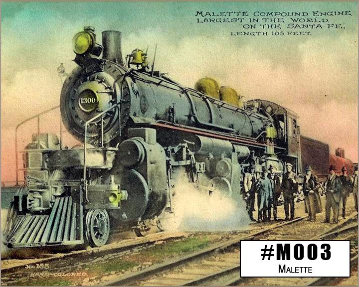 M003 Mallete Steam Locomotive Box Design