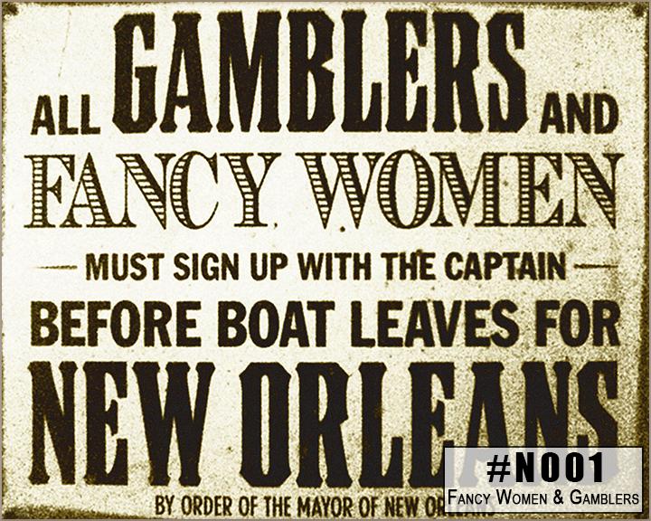 N001 Fancy Women and Gamblers Box Design