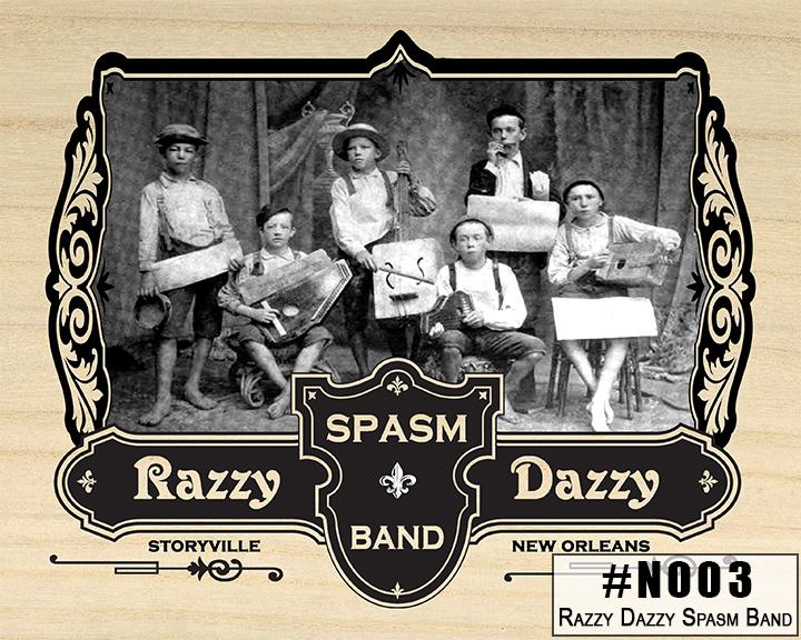 N003 Razzy Dazzy Spasm Band Box Design