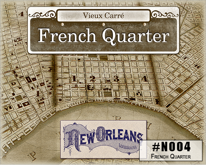 N004 French Quarter New Orleans Box Design
