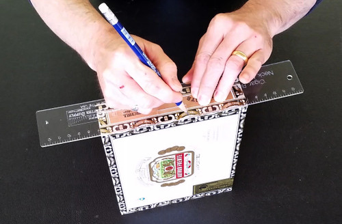 cigar box guitar neck notching template save time and increase accuracy c b gitty crafter. Black Bedroom Furniture Sets. Home Design Ideas
