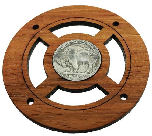 buffalo nickel back side vintage coin sound hole cover for cigar box guitars c b gitty. Black Bedroom Furniture Sets. Home Design Ideas