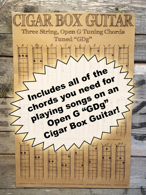 Three-string Open G Chord Poster for Cigar Box Guitar & More - C. B. ...