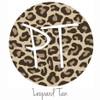 """12""""x12"""" Patterned Heat Transfer Vinyl - Leopard Tan"""