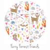 """12""""x12"""" Patterned Heat Transfer Vinyl - Furry Forest Friends"""