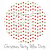 "12""x12"" Patterned Heat Transfer Vinyl - Christmas Party Polka Dots"