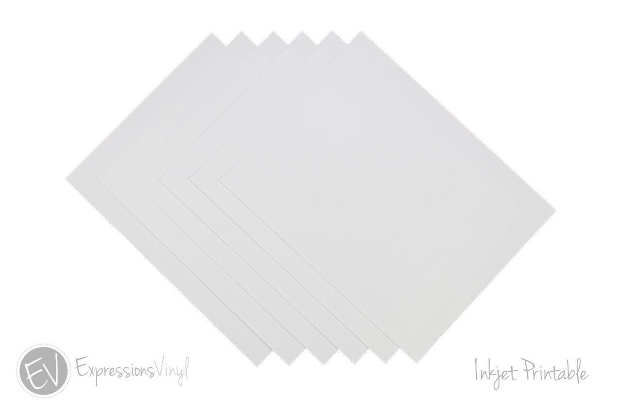 Rare image within printable adhesive vinyl sheets 8 pk