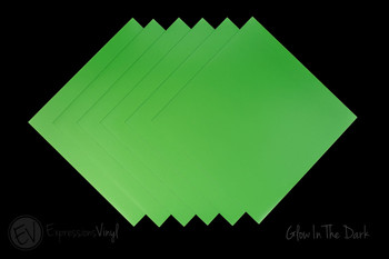"Glow in the Dark Vinyl 12""x12"" Sheets"