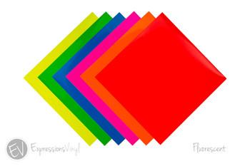 "Fluorescent Vinyl 12""x24"" Sheets"