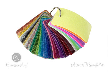 Glitter Heat Transfer - Color Sample Kit